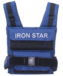 Жилет-утяжелитель IRON STAR S3 professional 18 кг (S3) синий