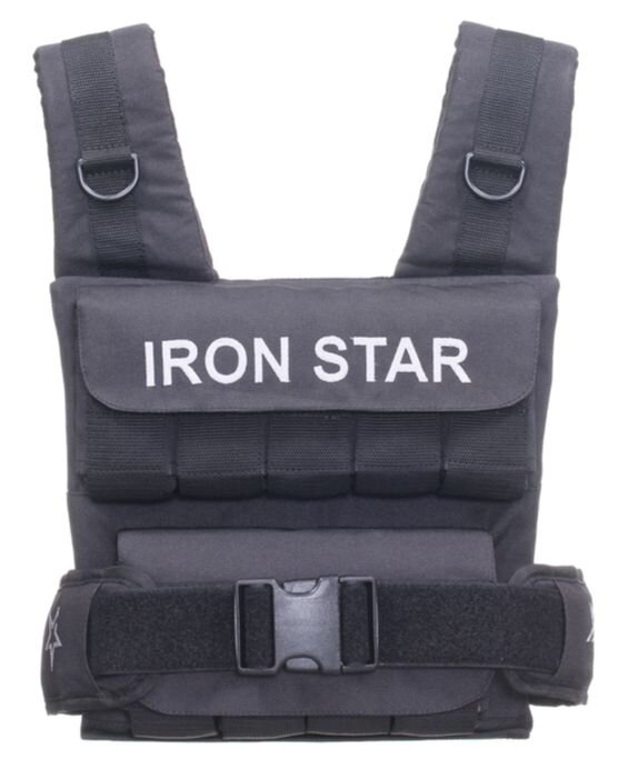 Жилет-утяжелитель IRON STAR S4 professional 18 кг (S4) черный