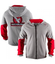 Олимпийка Hayabusa Wingback Hoodie Grey/Red, S-XL (14506)