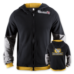 Олимпийка Hayabusa Wingback Hoodie Black/Grey/Yellow, S, L (14504)